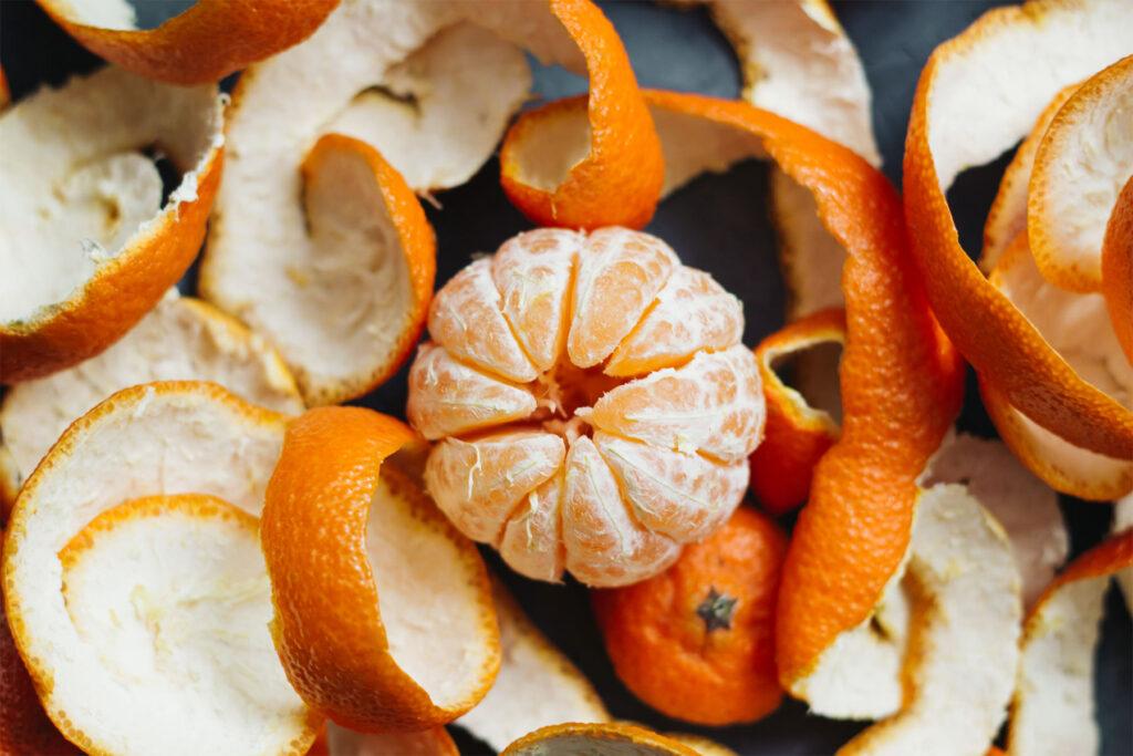 Польза мандаринов в кожура фрукта